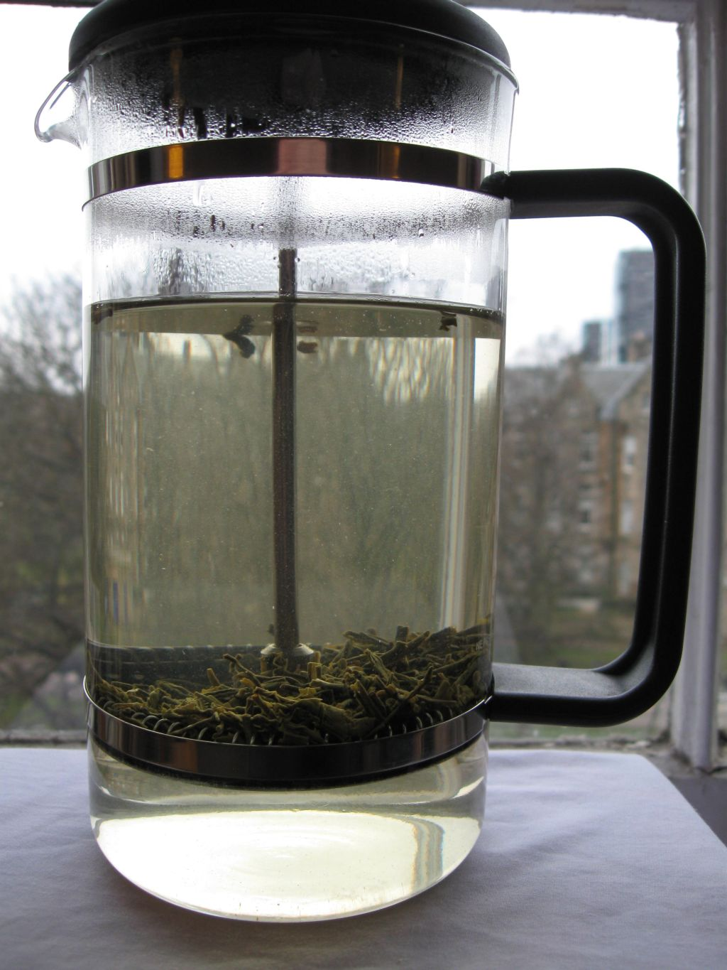 add water french press Using a french press for tea